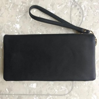 Women Wallets Long PU Zipper Long Wallet Female Clutch Coin Purse for Ladies Black - intl - 3