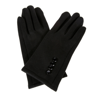 Women Winter Warm Gloves Touch Screen Sport Ski Gloves MittensBlack