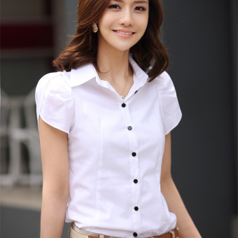 Women's Cap Sleeves Slim Business Blouse Plus Sizes (Intl)
