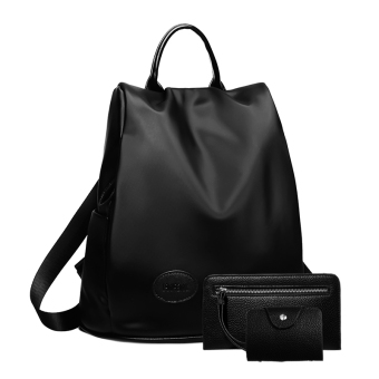 Women's Casual Nylon Bag (Black three sets)