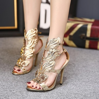 Women's High Heels European Sandals Gold - intl Price Philippines