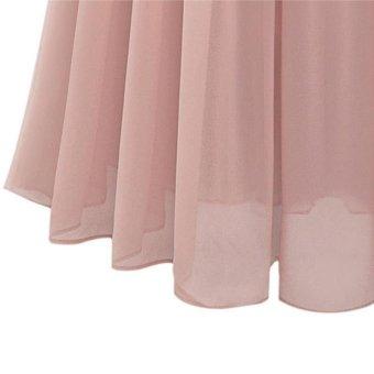 Women's High Waist Skirt Double Layer Chiffon Long Skirt - Pink - intl - 4