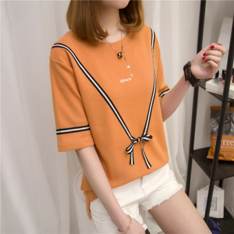 Women's Hongkong-style Short Sleeve T-Shirt (806 (orange))