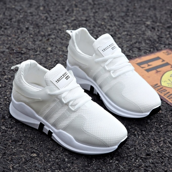 Women's Korean-style Casual Breathable Mesh Sneakers (White)