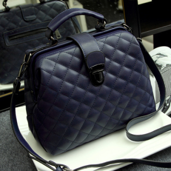Women's Korean-style Fashion Quilted Hand Bag (Sapphire blue color)