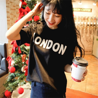 Women's Korean-style Letter Short Sleeve Loose T-Shirt