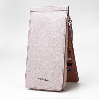 Women's Korean-style Mini Ultra-thin Multi Card Holder Purse (Light purple color)