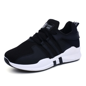 Women's Korean-style Running Shoes - Black (Female Models + Black (Partial small a code, shoes mouth tight))