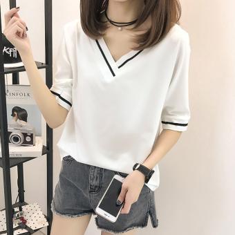 LOOESN versatile outerwear Women s Top Korean style long sleeved t shirt 126. Source.