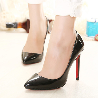 Women's Pointed Toe Stiletto Pumps Party High Heels Black - intl