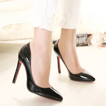 Women's Pointed Toe Stiletto Pumps Party High Heels Black - intl - 5