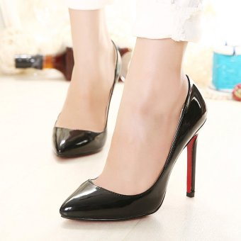 Women's Pointed Toe Stiletto Pumps Party High Heels Black - intl - 2