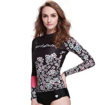 Women's Rash Guard Diving Shirts Tee Skins Long Sleeve Swimwear Snorkeling Surf Wetsuit Tops ? DT28