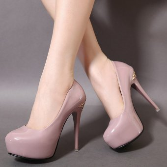Women's Round Toe Platform Bridal High Heels Fashion Party Shoes Purple