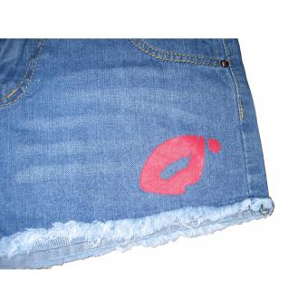 Women's Sexy Ripped Short Jeans New Fashion Denim with CuteDesigns-FNM (S#3) - 3