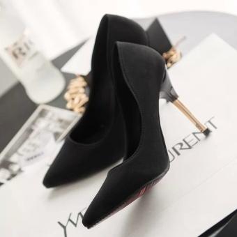 Women's shoes new European and American fashion sexy ladies ladies single nightclub high heels(Black) - intl - 3