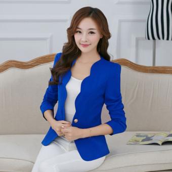 Women's Slim Business Blazer Blue - 2