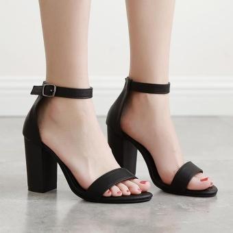 Women's Square Heel Shoes Slim Sandals - intl - 3