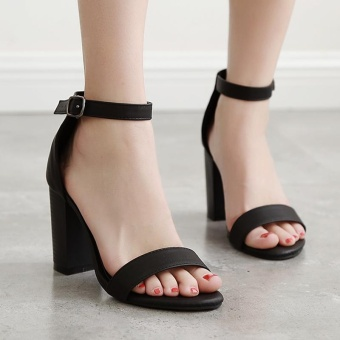 Women's Square Heel Shoes Slim Sandals - intl - 2