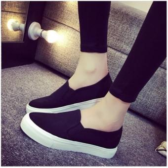 Women's Summer Casual Slip On Loafers - Black