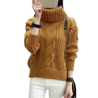 Womenenooe Cardigan Knitted Sweater Juper Outwear Coat Top (Khaki) - 2