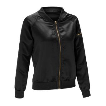 WomenPadded Bober Jackset Vintage Zip Up Biker Coat (Back) - 3