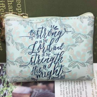 Women's Bible Verse Coin Purse (Ephesians 6:10)