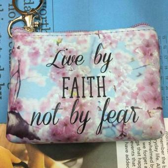 Women's Bible Verse Coin Purse (LIVE BY FAITH)