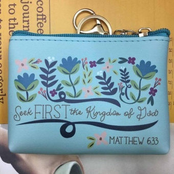 Women's Bible Verse Coin Purse (MATHEW 6:33)