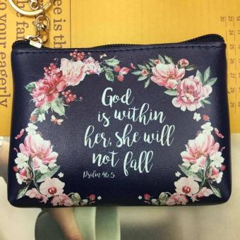 Women's Bible Verse Coin Purse (PSALM 46:5)