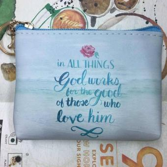 Women's Bible Verse Coin Purse (Romans 8:28)