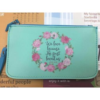 Women's Bible Verse Leather Pouch (JOHN 4:19)