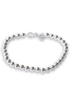 Women's Bracele Silver Plated Ball Bangle Chain