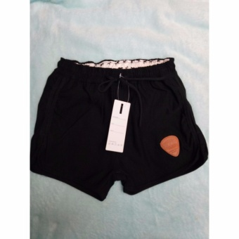 Women's Casual Dolphin Shorts (Black)