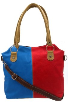 Women's Casual Hand/Sling Bag (Blue- Red- Brown)