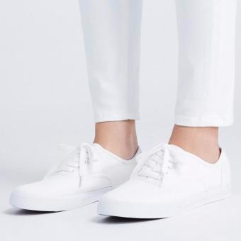 Women's Fashion Sneakers With Lace - White (Big Sizes Available) - 3