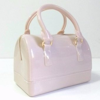 Women's Fashion Top-Handle Handbags Transparent Candy Color JellyPillow-shaped Tote jelly Bag Price Philippines