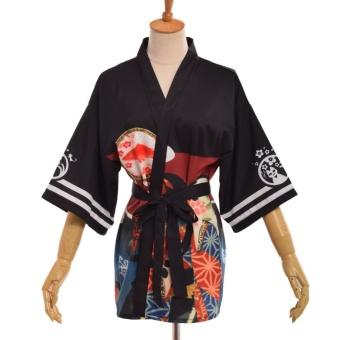 Women's Kimono Bathrobe Night Gown Loungewear Cover Up Cardigans -intl Price Philippines