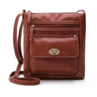 Women's Leather Satchel Cross Body Shoulder Messenger Bag Brown