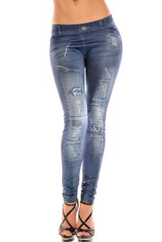 Women's Leggings Pants (Blue) - picture 2