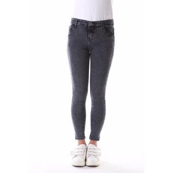 Women's Plain Grey Sexy Skinny Jeans - 3