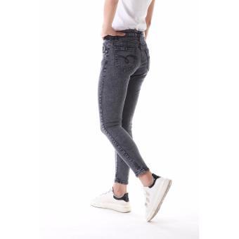 Women's Plain Grey Sexy Skinny Jeans - 4