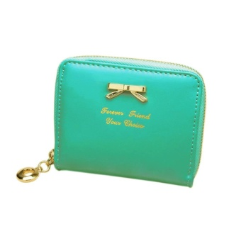 Women's Purse 2017 Coin Purse Clutch Women Pouches Wallets ShortSmall Bag PU Leather Female Purses For Coins Green - intl