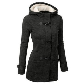 Womens Warm Winter Hooded Long Section Jacket Outwear Coat