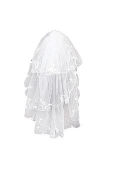 Women's Wedding Prom Party Lace Bridal Veils 150cm (Ivory)