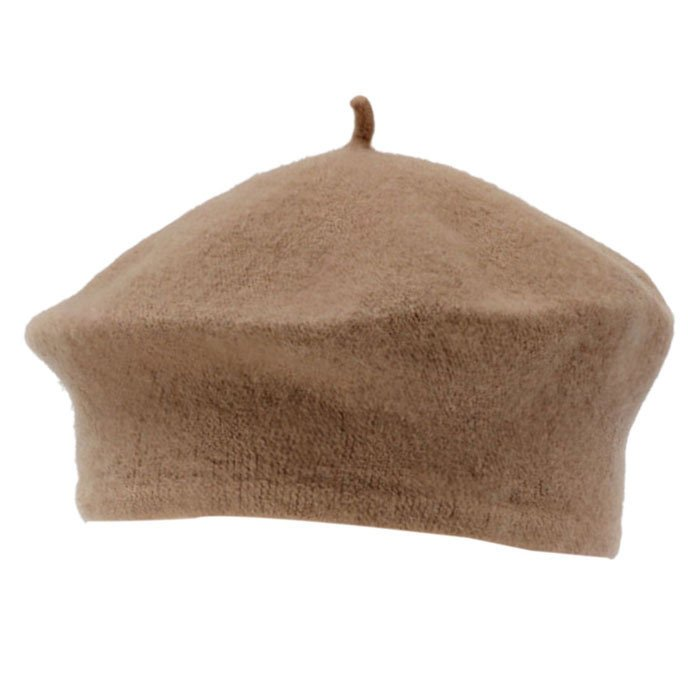 Womens Winter Solid Warm Wool Beret French Artist Beanie Hat Khaki product preview, discount at cheapest price