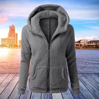 WomenThickFeece War Winter Coat Hooded Parka Overcoat JacksetOutwear - 2