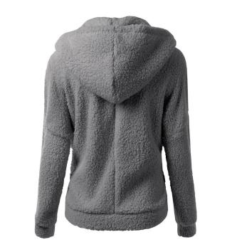 WomenThickFeece War Winter Coat Hooded Parka Overcoat JacksetOutwear - 4