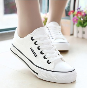 Wondergirls White shoes classic cloth shoes for students - intl