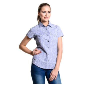 Wrangler Ladies' Floral Chambray Shirt (Blue Light)